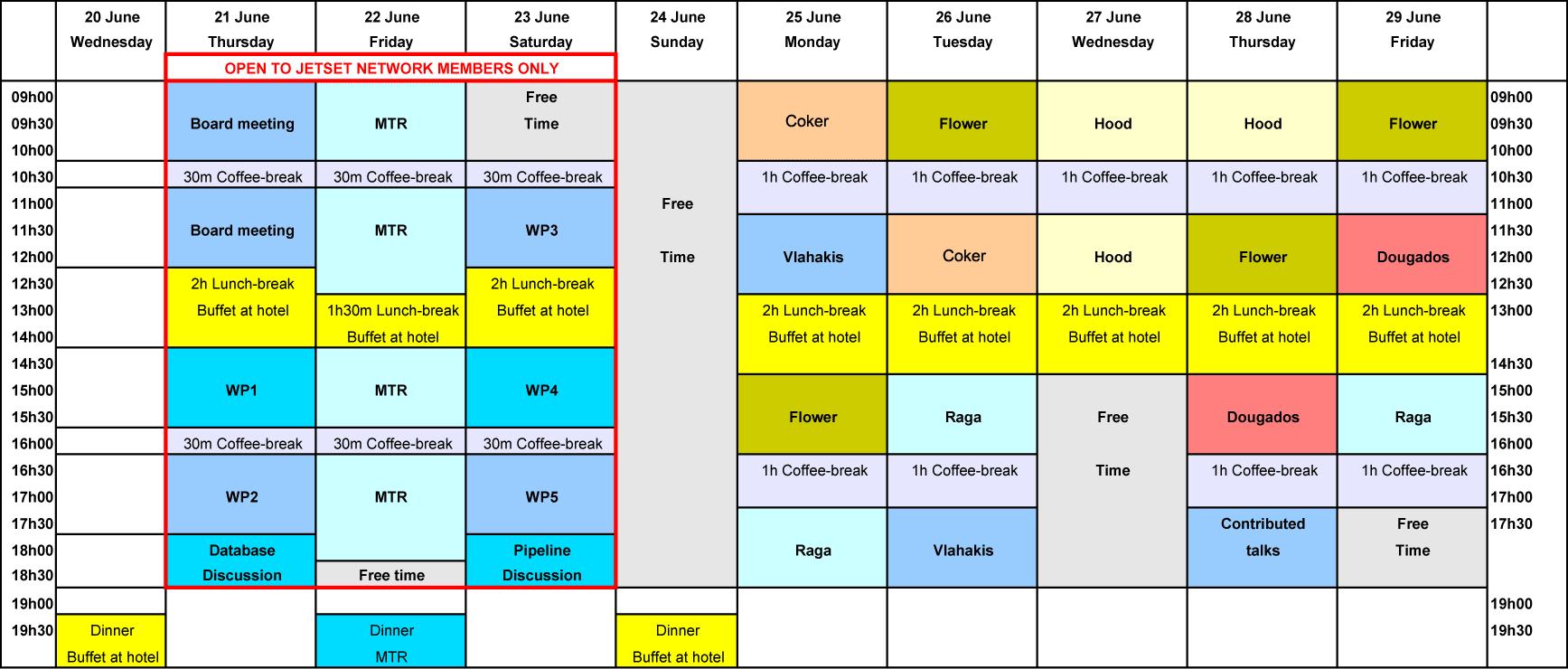 study template timetable